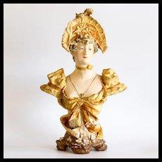 Circa 1900 Elegant Amphora Bust
