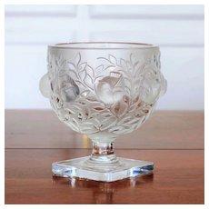 Circa 1940's Signed Lalique Elizabeth Vase