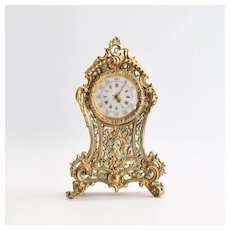 Vintage 800 Gold Antique Vermeil French Miniature Clock