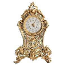 Vintage 800 Gold Antique Vermeil French Miniature Clock