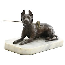 Circa 1880 Victorian Austrian Figural Dog Letter Opener