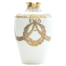 Exquisite Bavarian Overlay Art Nouveau Vase