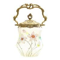 Circa 1880 Ornate Victorian Biscuit Jar