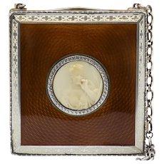 Lady' Circa 1910 Austrian Sterling Guilloche Compact