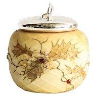 Circa 1889 Mount Washington Crown Milano Covered Jar