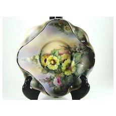 Vintage Matte Finish Nippon Floral Decorated Bowl