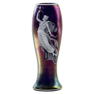 Fantastic Loetz Art Nouveau Iridescent Enamel Figural Vase