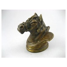 Fabulous Victorian Bronze Figural Horse Inkwell