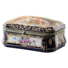 Mafnificent Vintage RS Germany Porcelain Jewel Casket