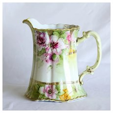 Circa 1890 Nippon Floral Painted Pitcher