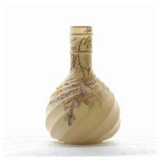 Circa 1875 Sgn. Smith Brothers Wisteria Vase