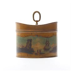 Antique French Pictorial Biscuit Tin