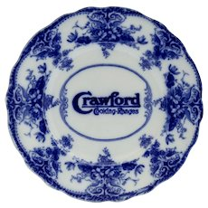 Circa 1900 Flow Blue Advertising Plate
