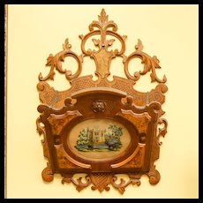 Circa 1870 Ornate Victorian Walnut Hanging Magazine Rack