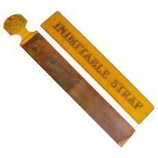 Antique Circa 1880 English Razor Strap