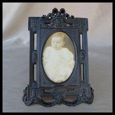 Beautiful Antique Victorian Gutta Percha Picture Frame
