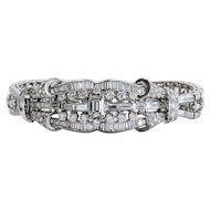 Amazing lady's Vintage Art Deco Platinum 11.17 Carat Diamond Bracelet