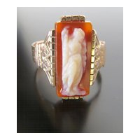 Victorian Lady's Rose Gold Cameo Ring
