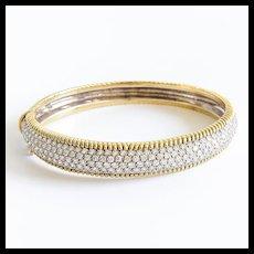 Lady's Vintage 18K 6 Carat Diamond Bangle Bracelet