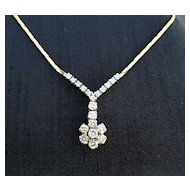 Lady's Vintage 14K Diamond Necklace