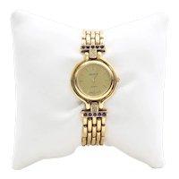 Lady's Vintage 14K Diamond & Amethyst Watch