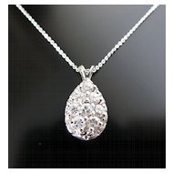 Lady's 14K Vintage Diamond Pendant