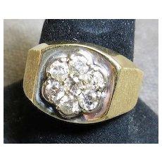 Vintage Gent's 14K Diamond Ring