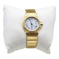 Cartier 18K Unisex Santos Octagon Watch