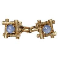 Gent's Vintage 14K Star Sapphire Cufflinks