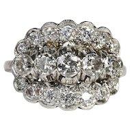 Lady's Circa 1930's Platinum 1.65 Carat Diamond Ring