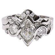 Lady's Vintage Platinum Duchess Diamond Ring