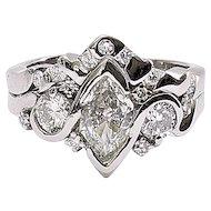 Lady's Vintage Platinum Duchess Diamond Ring