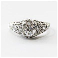 Vintage Art Deco Platinum Diamond Engagement Ring