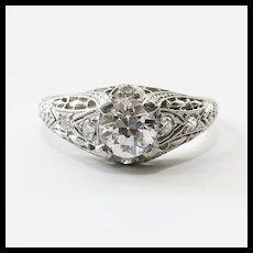 Vintage Art Deco Platinum Diamond Engagement Ring