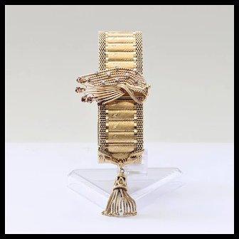 Exceptional Circa 1915 Lady's 14K Gemstone Bracelet Watch