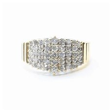 Vintage Lady's 14K Retro Diamond Cluster Ring