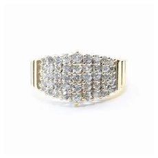Vintage Lady's 14K Retro Diamond Cluster Ring