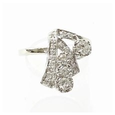 Lady's Art Deco 14K Diamond Ring