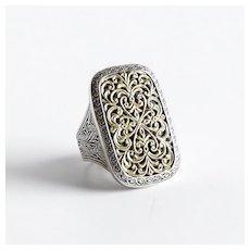 Vintage Konstantino Sterling & 18K Lady's Ring