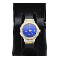 Womens Hublot 18K/SS Classic Blue Dial Watch