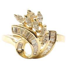Lady's Vintage 14K Diamond Ring