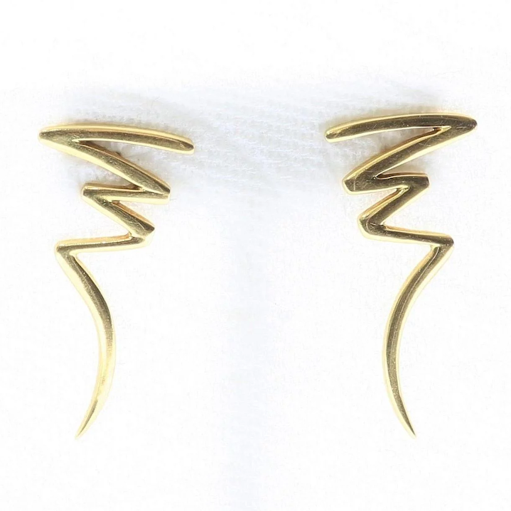 e9dbe0fbf Vintage Signed Tiffany & Co. 18K Paloma Picasso Scribble Earrings : The  Vault Fine Antiques & Estate Jewelry | Ruby Lane