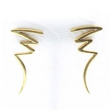 Vintage Signed Tiffany & Co. 18K Paloma Picasso Scribble Earrings