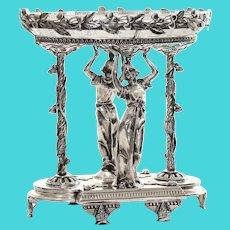 Museum Quality Circa 1890 Art Nouveau Figural Centerpiece