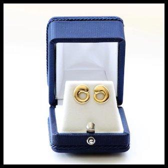 Vintage Signed Tiffany & Co. 18K Elsa Peretti Eternal Circle Earrings