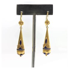 Circa 1850 Castellani 15K Etruscan Style Earrings