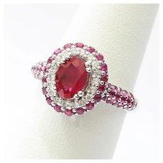 Lady's 14K Custom Ruby & Diamond Ring