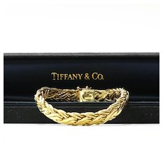 Lady's Vintage Custom Signed Tiffany & Co. 18K Bracelet