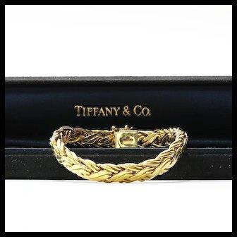 Lady's Vintage Custom Signed Tiffany & Co. 18K Bracelet