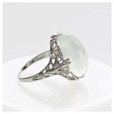 Lady's Vintage 18K Moonstone Ring